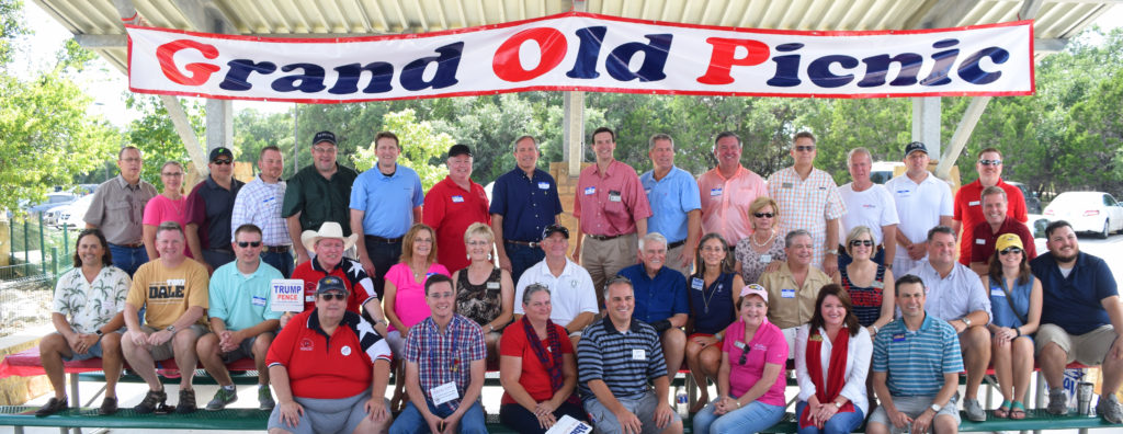 at at the Williamson County Republican Party Grand Old Picnic September 18 at Wilco Regional Park