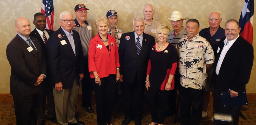 Vietnam Veterans with Paula Dennis (front, right) and Congressman Carter (center) and GARW members/friends who received 50th Commemorative recognition.