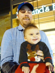 Mike Ferrier introduced daughter Fiona (6-1/2 months) to Santa for her first Christmas ever.