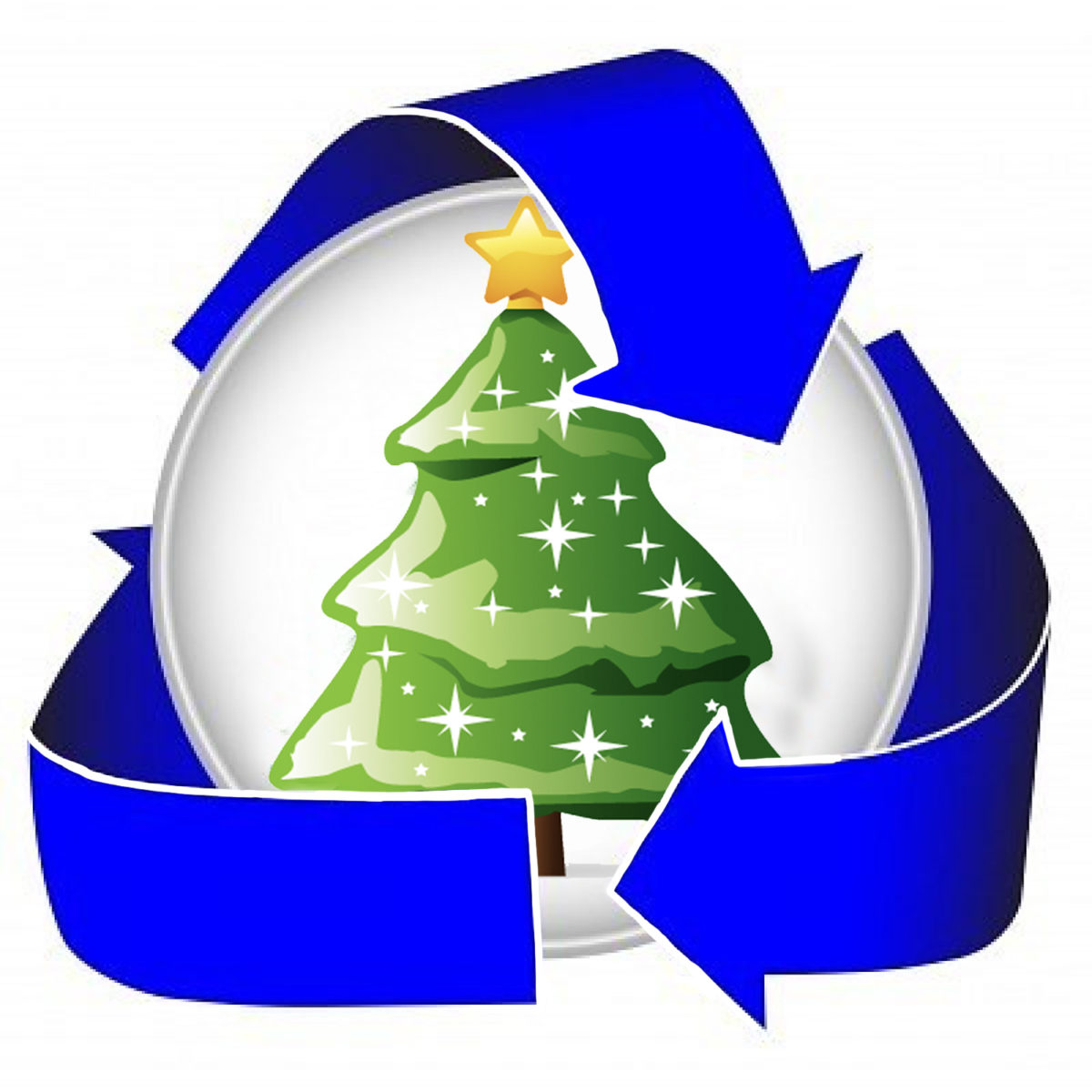 Recycling Christmas Trees And Boxes