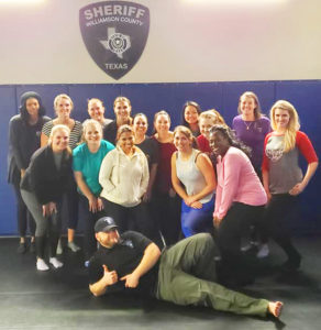 Deputy Brandon Schaefer and women's self defense (early 2020) (Facebook/WCSO)
